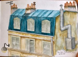 House in Montmartre, Rue Lepic, Paris